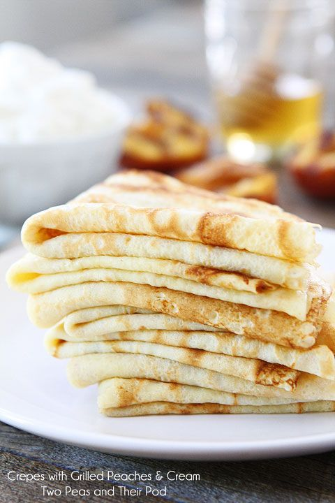 Crepes with Grilled Peaches & Cream | Recipe