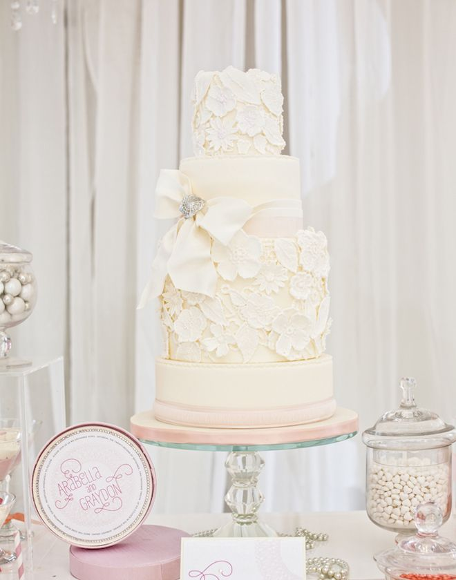 Lace Wedding Cakes - Part 6 - Belle the Magazine . The Wedding Blog For The Sophisticated Bride