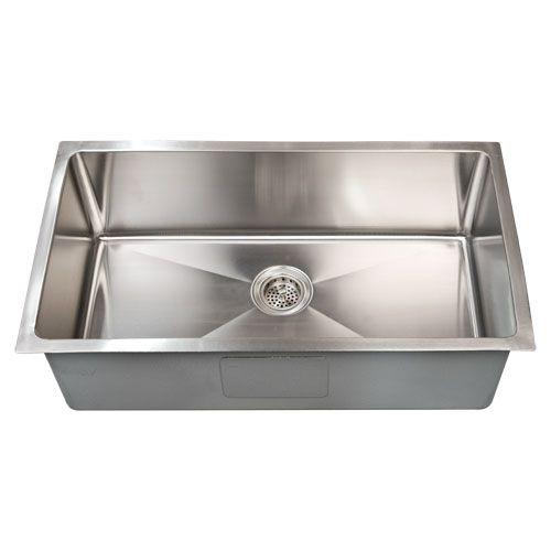 Farmhouse Sink Stainless Steel Undermount : Optimum Stainless Steel Single Well Rectangular Undermount Sink - 15 ...