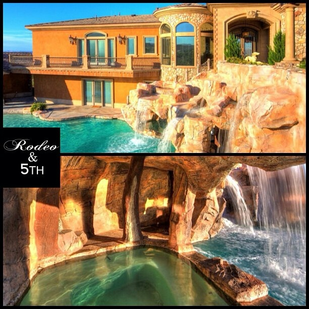 Luxury house in Nevada not only features its own water park but also