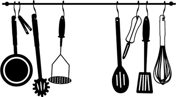 Sticker utensilios cocina dise o pinterest for Utensilios de cocina logo