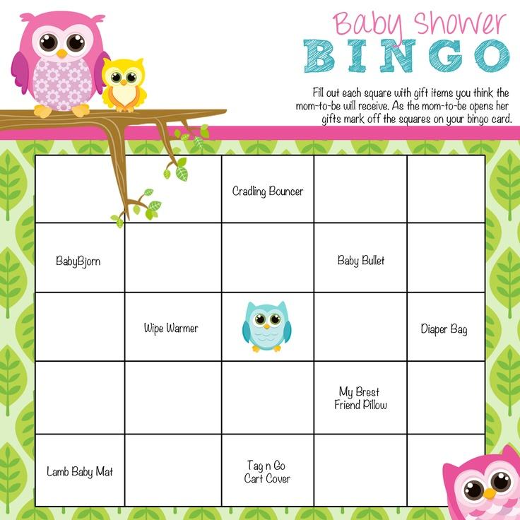Baby Shower Bingo | baby shower ideas | Pinterest