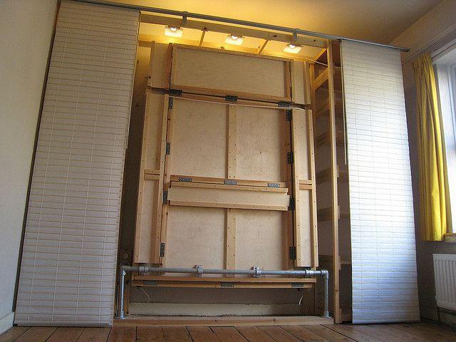 ikea panels to hide a hideaway bed hidden bed ideas pinterest. Black Bedroom Furniture Sets. Home Design Ideas