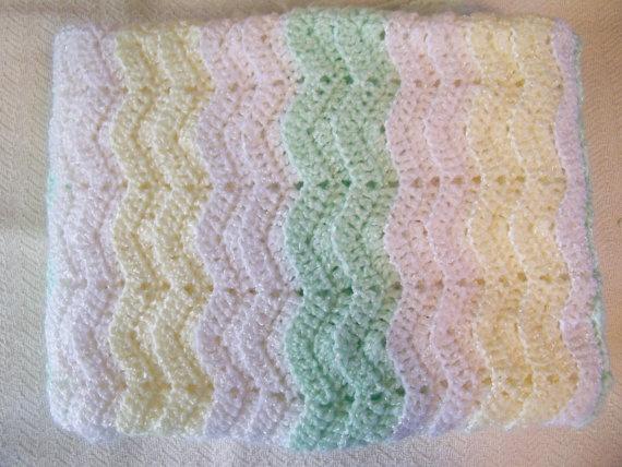 Baby Ripple Crocheted Afghan Chevron Blanket by ...