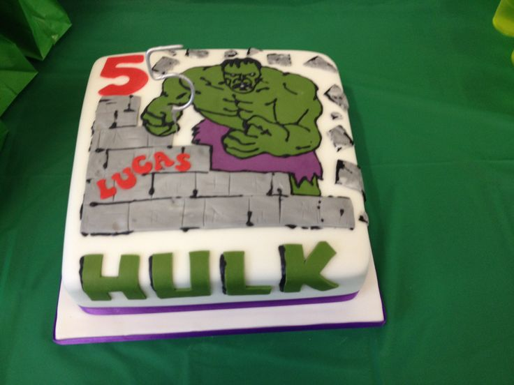 Hulk birthday cake  Party ideas  Pinterest