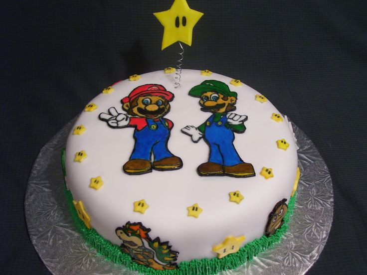 Images Of Cake For Brother : Pin by Hannah Person on Super Mario Bros Party Pinterest