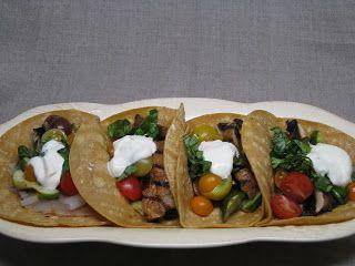 Grilled Portobello & Zucchini Tacos | good eats | Pinterest