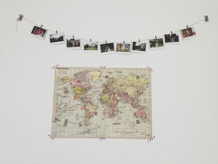 The last days of Spring: DIY polaroid photo garland