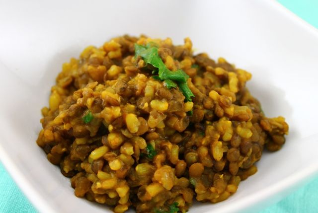 Smoky Spiced Lentils and Rice. Some serious vegan comfort food.