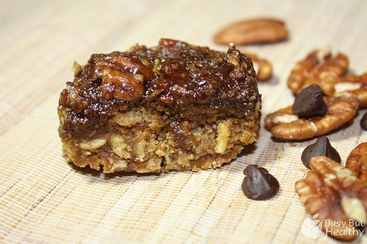 Oatmeal Turtle Bars | Busy But Healthy