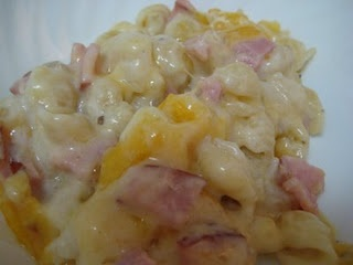 or cheddar cheese 1 cup sour cream 2 cups cubed ham 1 8 oz package egg ...