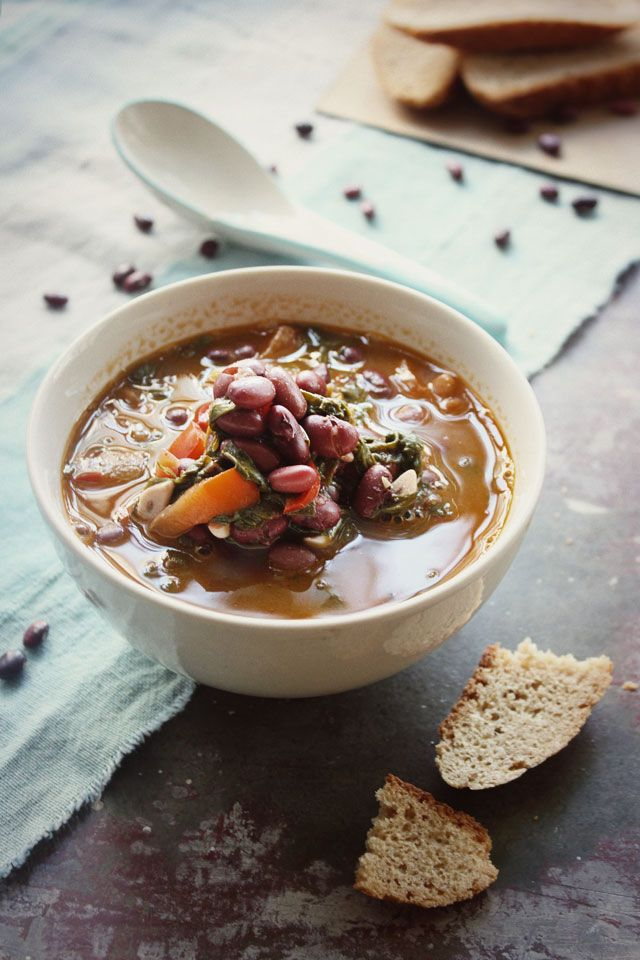 Kidney Bean and Spinach Soup | The Soup Pot | Pinterest