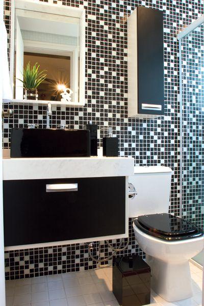 decoracao tudo branco:REFORMA É TUDO DE BOM..LENEKARMO: Banheiro Preto e Branco,Vermelho