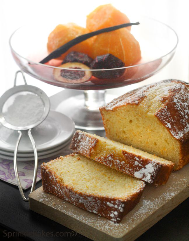 Sprinkle Bakes: Orange Yogurt Loaf Cake This loaf cake is good, very ...