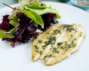 Sole a la Meuniere with broccoli and olive salad Rachel Allen