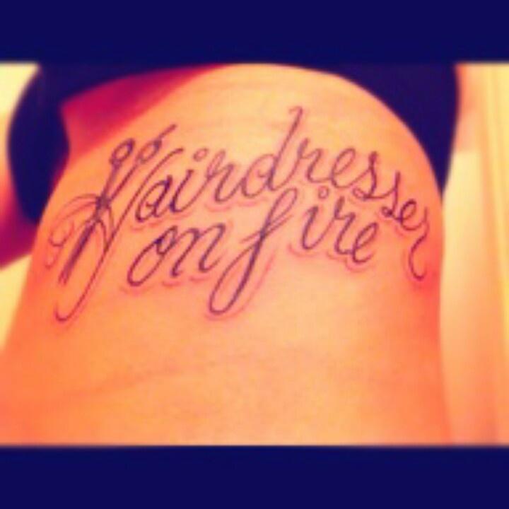 Hairdresser Tattoos Hairdresser tattoo