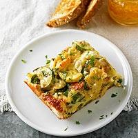 Four-Cheese Zucchini Strata | Recipe