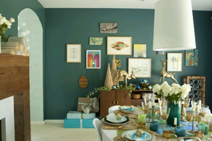 glidden totally teal christmas pinterest