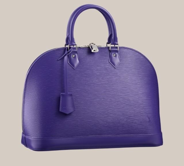 Alma purple Louis Vuitton handbag