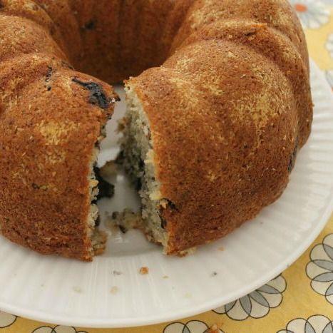 Lemon-Blueberry Poppy Seed Bundt Cake #secretrecipeclub - White Lights ...