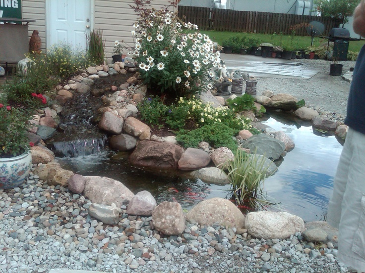 Waterfall pond idea koi pond ideas pinterest for Pond and waterfall ideas
