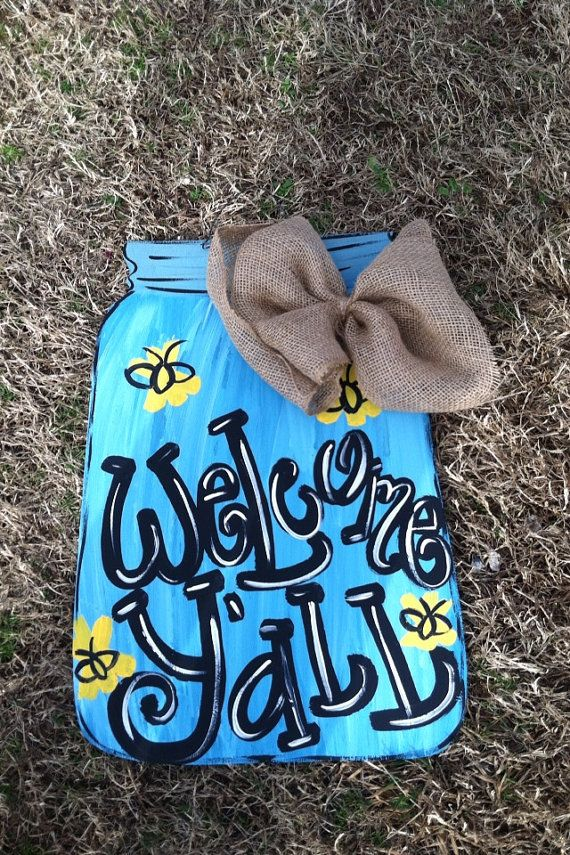 2 1/2ft tall Mason Jar by DoorHangersnMore on Etsy, $30.00