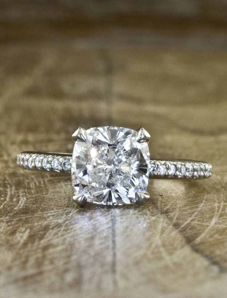 THIS IS THE ONE - cushion cut solitaire with pave band