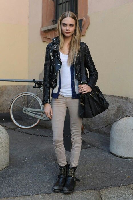 Burberry leather biker jacket | Chicks I dig | Pinterest