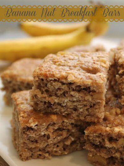 Banana Nut Breakfast Bars http://thegardeningcook.com/fast-breakfast ...