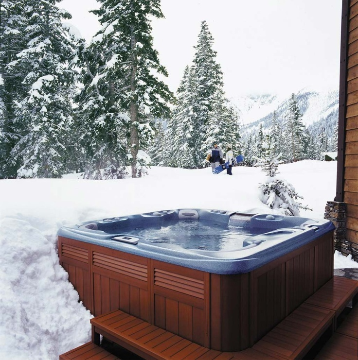 Hot Tub, Snow & Trees! Snowy Hot Tub Wonderment Pinterest