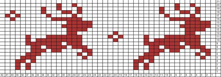 Reindeer Knitting Pattern Chart : Tricksy Knitter Charts: reindeer running Knitting Christmas Pinte?