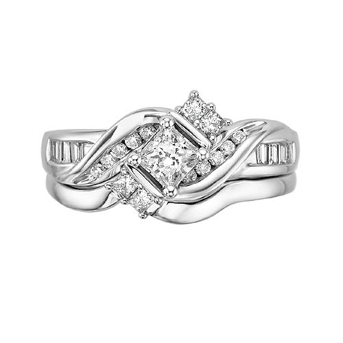 Fred Meyer Jewelers | 58 ct. tw. Diamond Wedding Set. LOVE LOVE LOVE ...