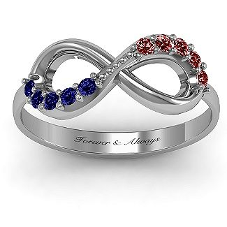 birthstone infinity accent ring