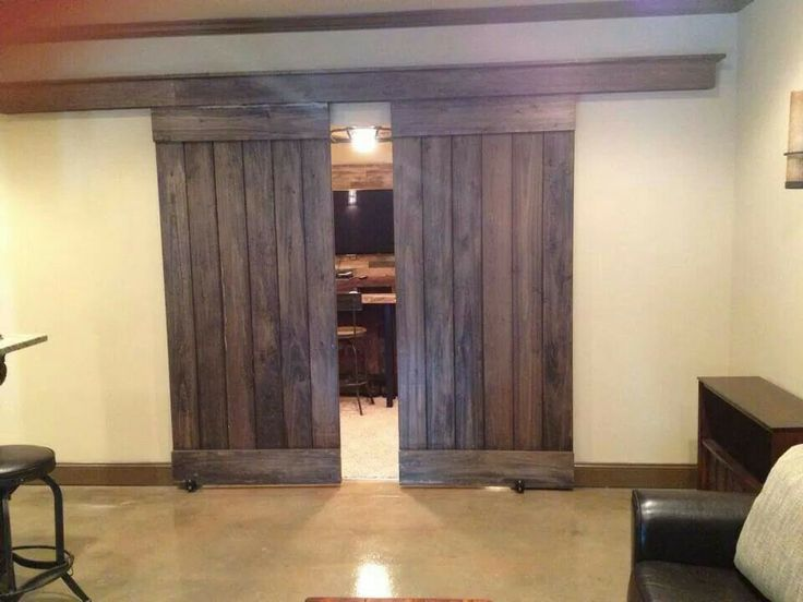 basement barn doors um yea