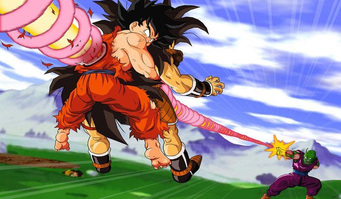 ★Goku &amp Piccolo VS Raditz★  亀 DRAGON ★ BALL 悟
