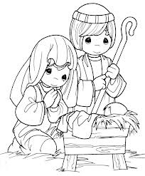 Nativity scene coloring pages google search christmas for Precious moments nativity coloring pages