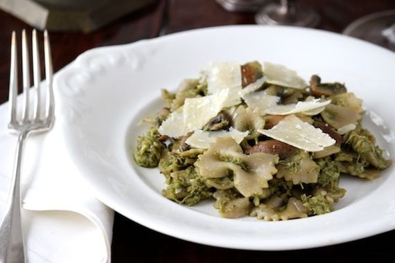 Farfalle with Roasted Chicken, Mushrooms & Winter Pesto | Chicken ...