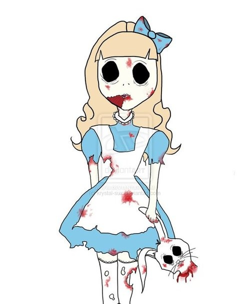 zombie alice in wonderland halloween costumes