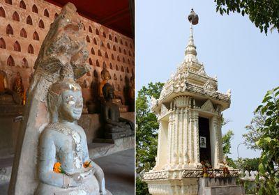 Tượng trong chùa Sisaket được làm từ nhiều chất liệu khác nhau