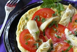 summertime frittata with artichoke tomato amp basil pesto punchfork