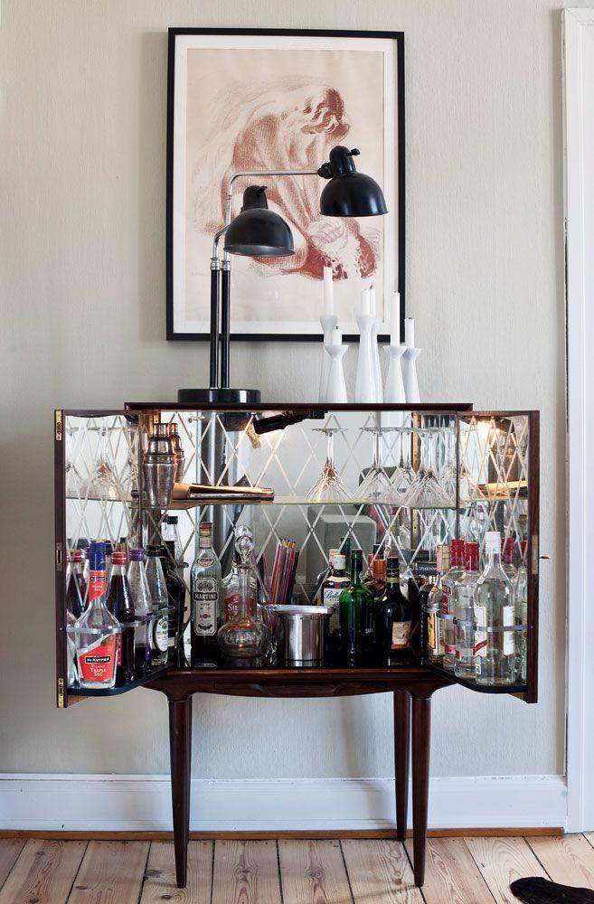 Glamtastic mcm bar cabinet