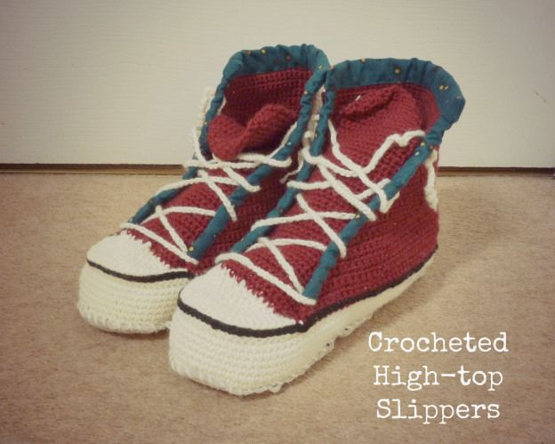 Free Crochet Pattern For High Top Slippers : Crochet High Top Slippers HanJan Crochet from Far and ...