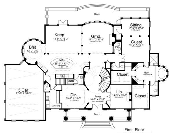 Colonial Greek Revival Plantation House Plan 72163
