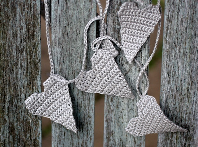 Crochet Garland , Valentine garland