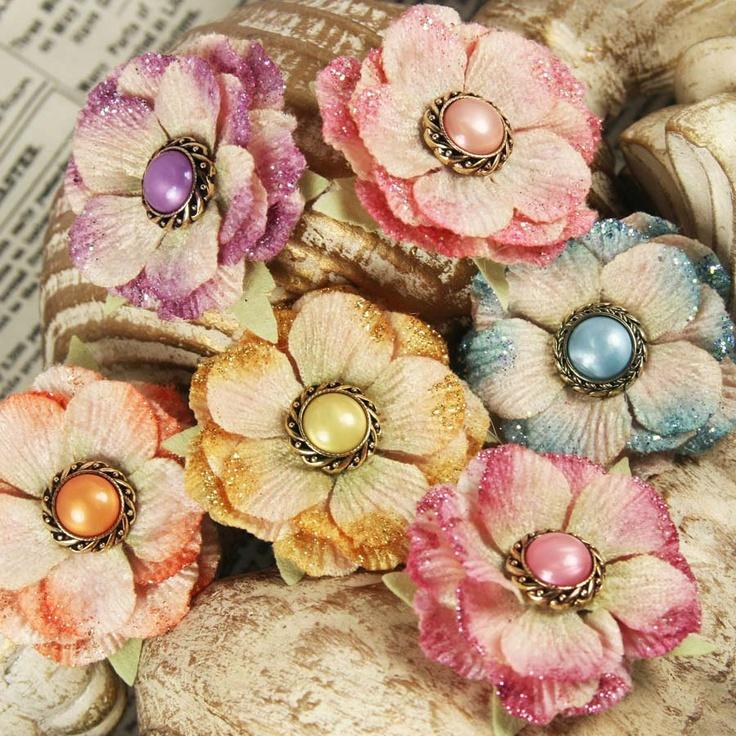 Скрапбукинг цветы фото