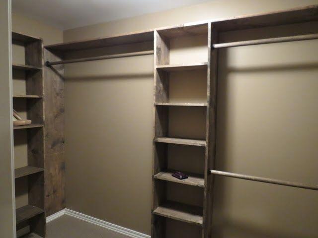 Diy closet shelves home sweet home pinterest for Simple closet shelves