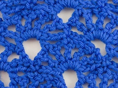 Crochet Stitch Open : crochet stitch - open fan (reversible) Crochet Stitch Patterns Pi ...