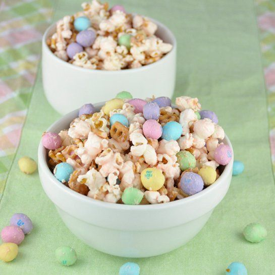 Sweet and Salty Dessert: Salted Caramel Popcorn with peanut M&M's and...