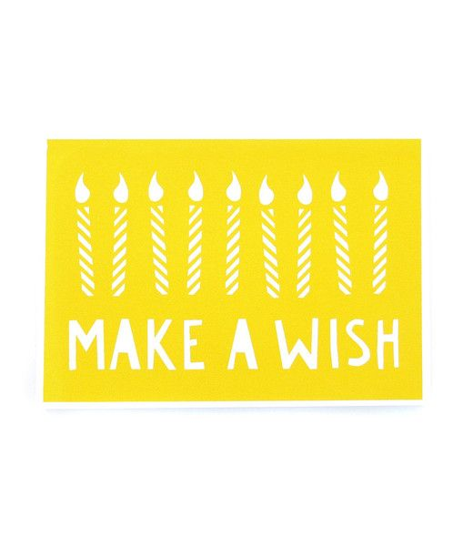 Yoke - Make a Wish Birthday Card: pinterest.com/pin/73394668901625202