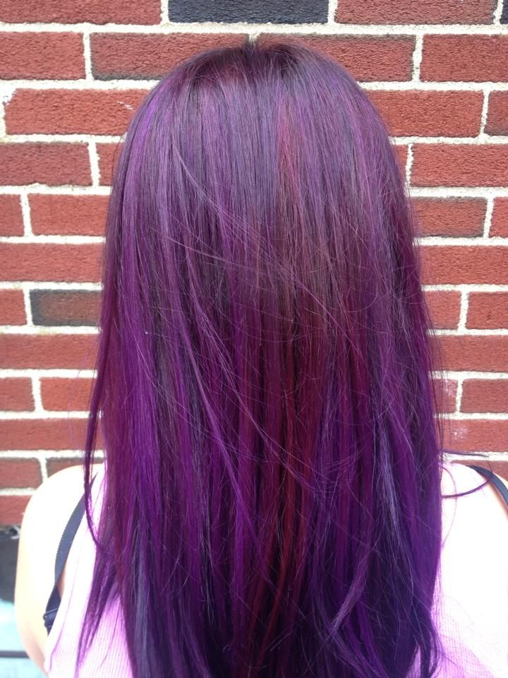 aveda color aveda purple and red | Fun Hair Ideas | Pinterest